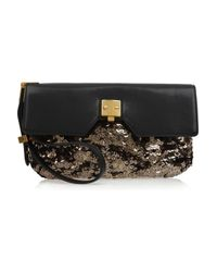 Marc Jacobs | Metallic Alexis Sequin and Leather Clutch | Lyst
