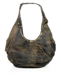 Sara Berman | Brown Decca Midi Studded Slouch Bag | Lyst