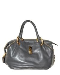 Marc Jacobs | Gray Paradise Calfskin Little Janice Top Hand | Lyst