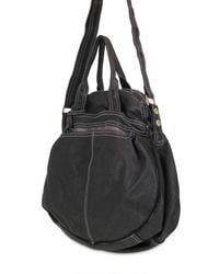 Sissi Rossi - Black Washed Bufalo Tote - Lyst