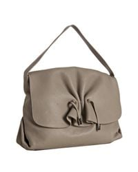 Furla | Natural Stone Leather Adda Large Shoulder Bag | Lyst