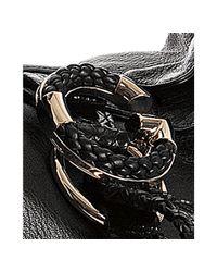 Gucci - Black Pebble Leather G Wave Medium Shoulder Bag - Lyst