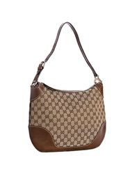 Gucci | Brown Tan Gg Canvas Charlotte Medium Hobo | Lyst