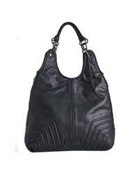BCBGMAXAZRIA | Black Leather Urban Rocker Large Shoulder Bag | Lyst