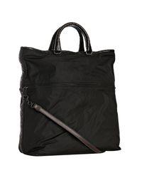 Bottega Veneta | Black and Brown Nylon China Taffeta Bag | Lyst