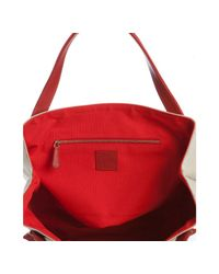 Christian Louboutin | Red Canvas Easy Summer Tote | Lyst