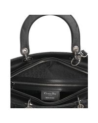 Dior - Black Lambskin Lady Cannage Large Bag - Lyst