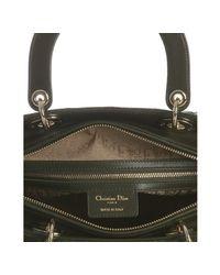 Dior | Dark Green Lambskin Cannage Lady Large Bag | Lyst