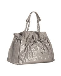Dior | Gray Grey Quilted Patent Lambskin Le 30 Medium Chain Tote | Lyst