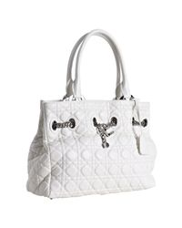 Dior | White Cannage Lambskin Chri-chri Small Shopper Bag | Lyst
