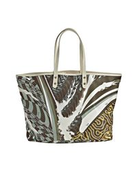 Emilio Pucci | White Coated Fabric Abstract Print Tote | Lyst