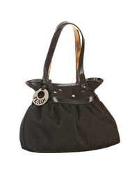 Fendi | Black Zucca Canvas Mare Star Stud Mini Bag | Lyst