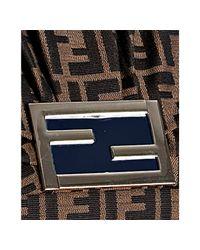 Fendi - Brown Blue Zucca New Forever Flap Shoulder Bag - Lyst