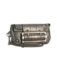 Givenchy - Brown Leather Buckle Foldover Flap Clutch - Lyst