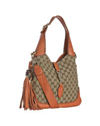 Gucci | Natural Orange Gg Canvas New Jackie Small Hobo | Lyst