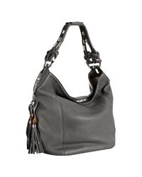 Gucci | Gray Cement Leather Techno Horsebit Large Hobo | Lyst