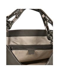 Gucci - Gray Cement Leather Techno Horsebit Large Hobo - Lyst