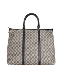 Gucci | Blue Navy Gg Plus Large Travel Tote | Lyst