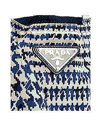 Prada - Blue Navy Printed Nylon Tote Bag - Lyst