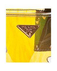 Prada | Yellow Sailboat and Bee Clear Printed Pvc Tote | Lyst