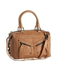 Rebecca Minkoff - Natural Camel Leather Love Letter Mab Satchel - Lyst