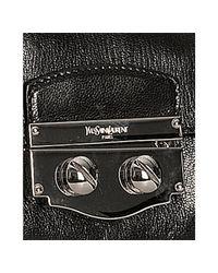 Saint Laurent - Black Leather Flap Front Chain Shoulder Bag - Lyst