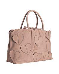 Dolce & Gabbana | Pink Blush Leather Heart Detail Handbag | Lyst