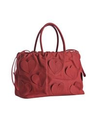 Dolce & Gabbana | Red Leather Heart Detail Handbag | Lyst
