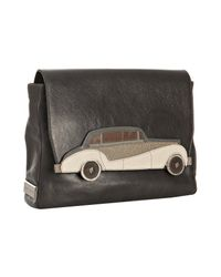 Marc Jacobs | Gray Dark Grey Leather Rolls Car Applique Clutch | Lyst