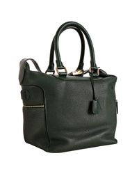 Céline | Dark Green Pebble Leather Small Boston Bag | Lyst