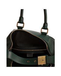 Céline - Dark Green Pebble Leather Small Boston Bag - Lyst