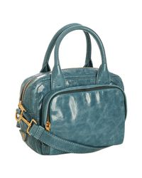 Prada | Blue Azzurro Vitello Shine Leather Bauletto Small Zip Satchel | Lyst