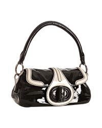Prada | Black Vitello Shine Leather Turnlock Shoulder Bag | Lyst