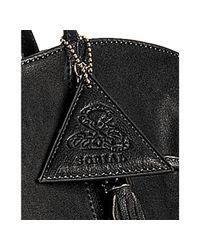 Sorial - Black Leather Zip Detail Large Tassel Tote - Lyst
