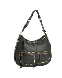 Sorial | Black Studded Leather Large Hobo | Lyst