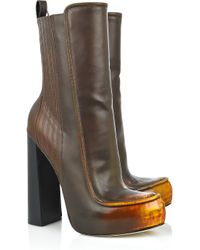 Alexander Wang | Brown Addison Leather Boots | Lyst