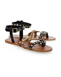 By Malene Birger | Brown Diva Studded Leather Sandals | Lyst
