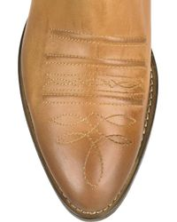 Chloé | Brown Short Leather Cowboy Boots | Lyst