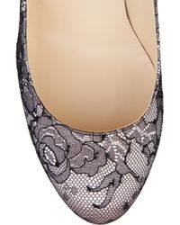 Christian Louboutin - Pink Fifi 100 Satin and Lace Pump - Lyst