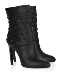Emilio Pucci | Black Studded Leather Ankle Boots | Lyst
