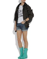HUNTER - Blue Original Short Wellington Boots - Lyst