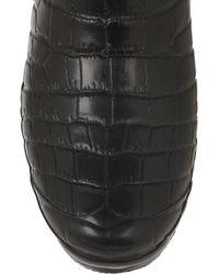 Jimmy Choo - Black Crocodile-print Wellington Boots - Lyst
