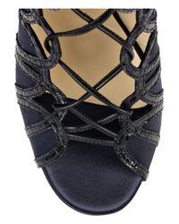 Jimmy Choo - Black Feline Snakeskin Shoe Boots - Lyst