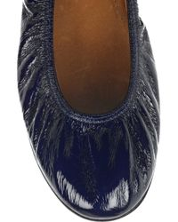 Lanvin - Blue Patent-leather Ballerina Flats - Lyst