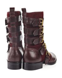 Marc By Marc Jacobs - Purple Buckle Leather Boots - Lyst