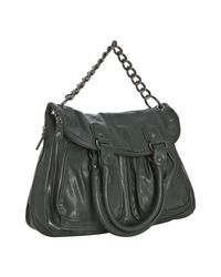 BCBGeneration | Green Forest Faux Leather Large Foldover Tote | Lyst