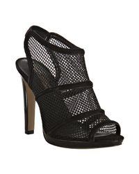 BCBGMAXAZRIA | Black Mesh Lisa Peep Toe Sandals | Lyst