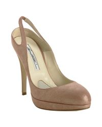 Brian Atwood | Pink Suede Taro Slingbacks | Lyst