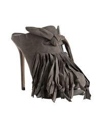 Camilla Skovgaard | Gray Grey Suede Knot Tassel Platform Mules | Lyst