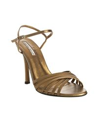 Charles David | Metallic Bronze Leather Fortune Strappy Sandals | Lyst